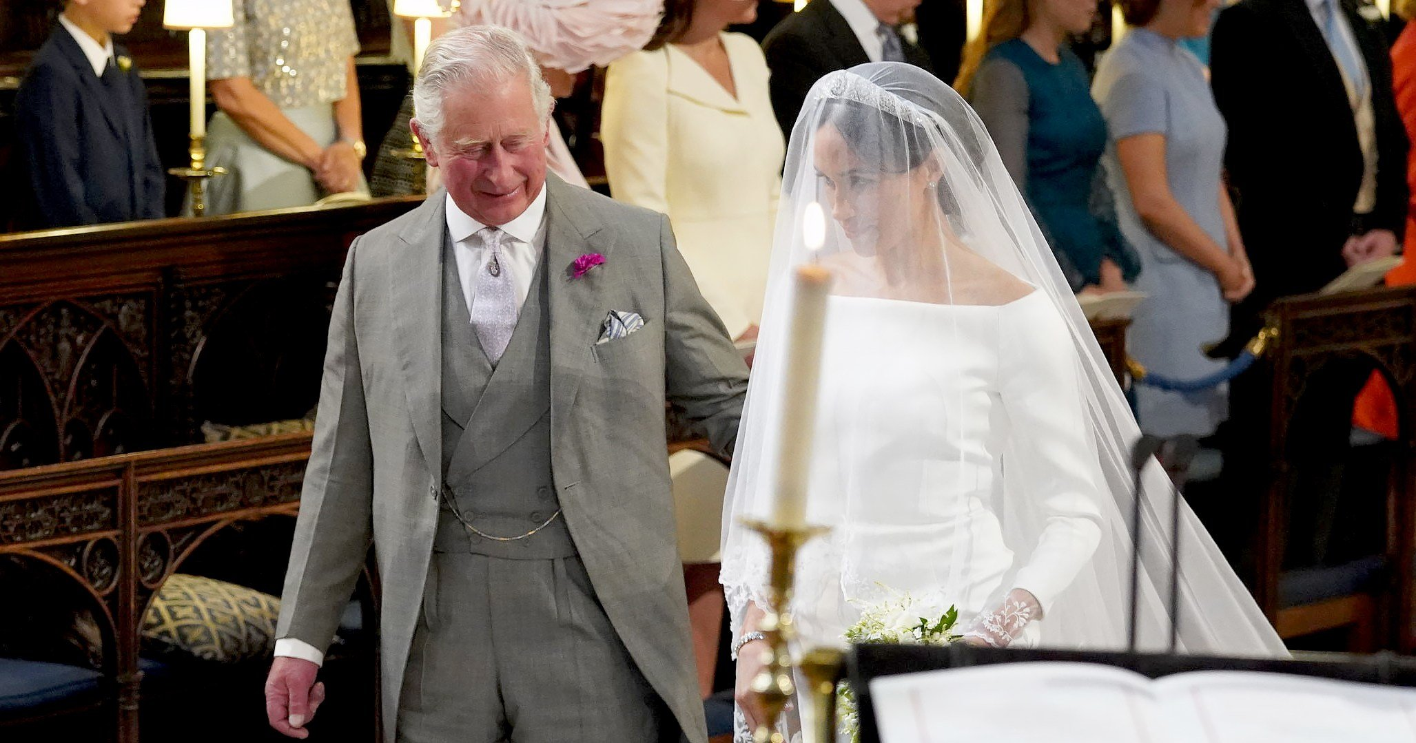 Meghan Markle Walks Down Aisle With Prince Charles At