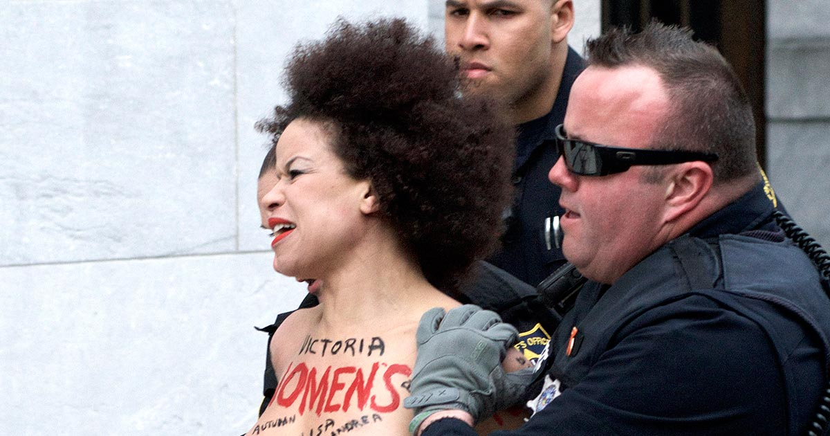 Bill Cosby topless protester used to be actress on The