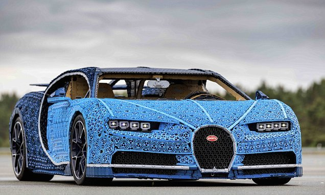 Bugatti Chiron is made with a million LEGO bricks and 2,300 toy ...