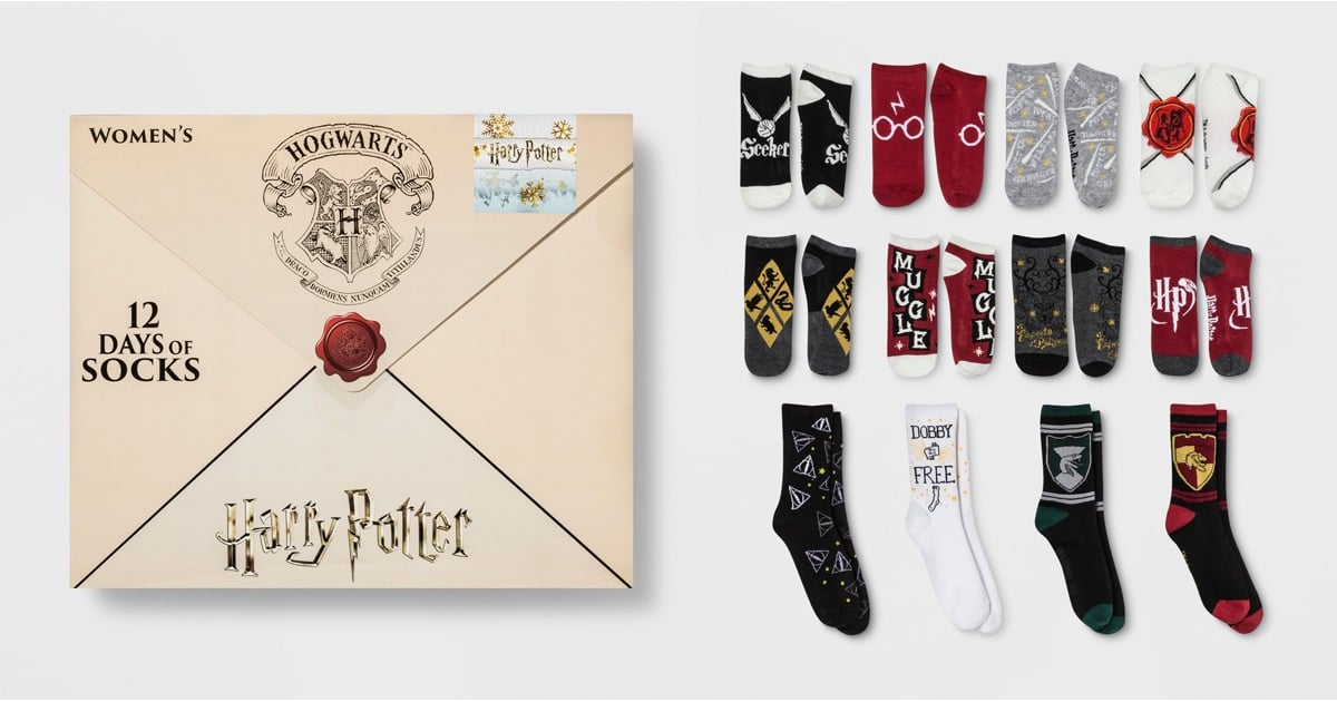 target 39 s sock filled harry potter advent calendars are back and yep still only 15 big world. Black Bedroom Furniture Sets. Home Design Ideas