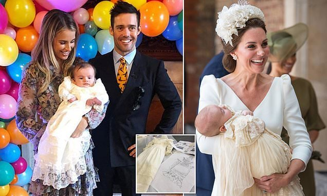 Spencer And Vogues Baby Son Wears Christening Gown Like Prince
