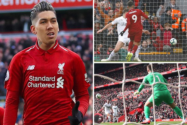 91428e4126f Liverpool 4 Burnley 2: Firmino scores twice as Reds overcome controversial  goal to close gap on Man City to a point - Big World News