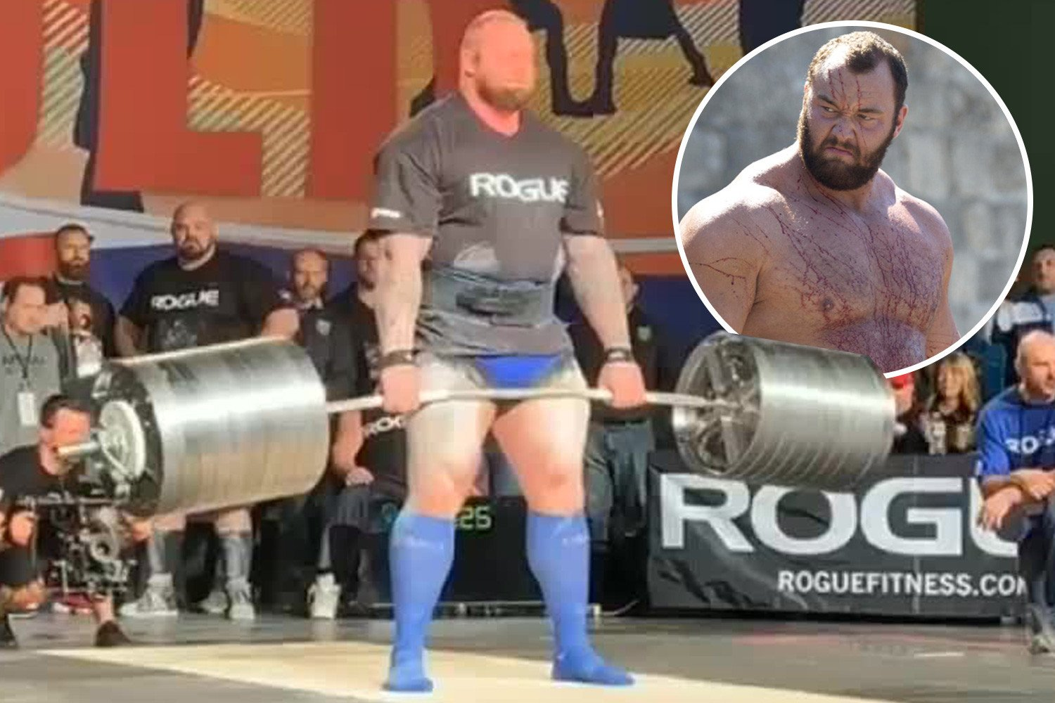 Watch as Game of Thrones star 'The Mountain' breaks his own