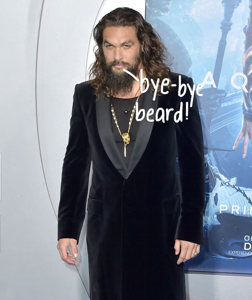 Jason Momoa Just Shaved Off His Beard For The First Time