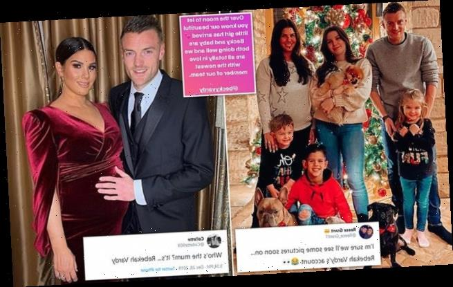 'It's .... baby Vardy!' Twitter erupts as Rebekah gives ...