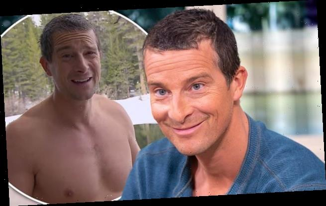 Bear Grylls accidentally flashes his manhood to stunned